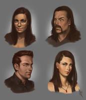 Imaginative Faces Study 01 by WarrenLouw
