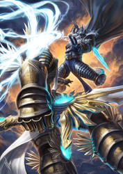 Tyrael vs Arthas by WarrenLouw