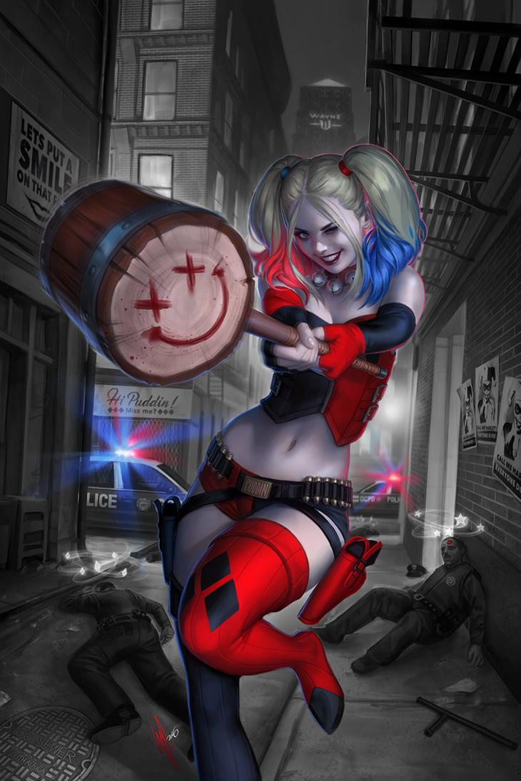 Harley Quinn #1 variant by WarrenLouw