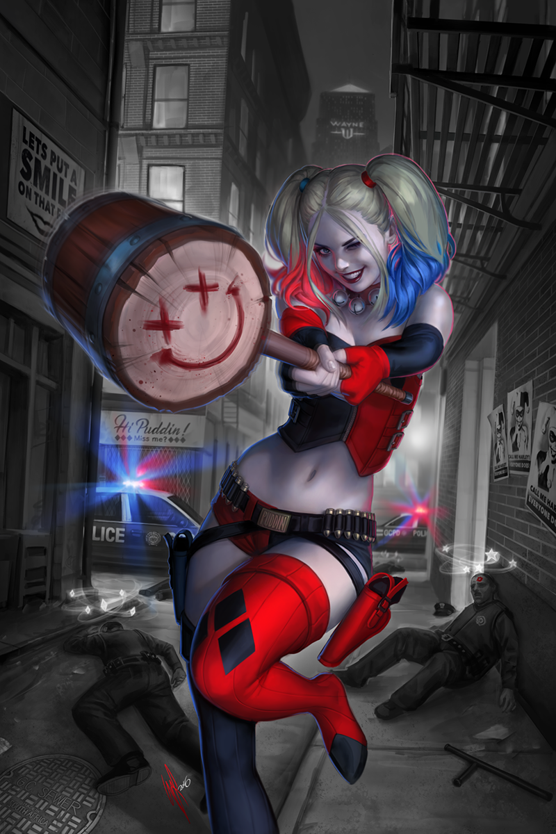 Harley quinn 1 variant by warrenlouw on deviantart for Imagenes de jarli cuin