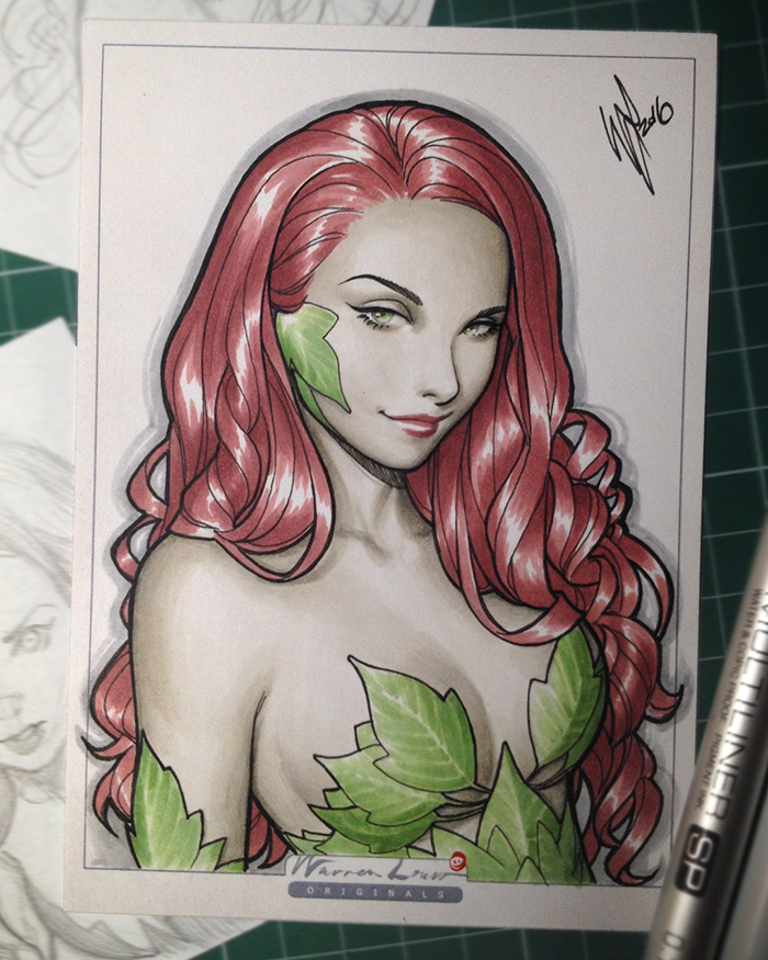Copic Poison Ivy by WarrenLouw