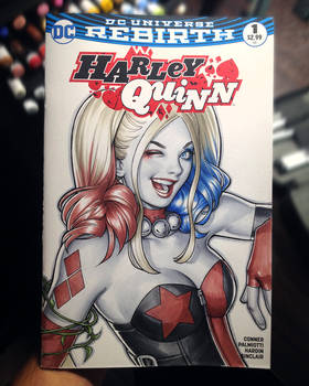 Harley Quinn sketch cover by WarrenLouw
