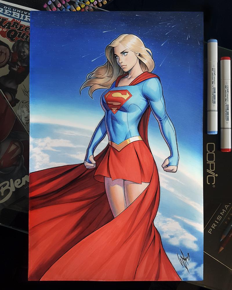 Classic Supergirl by WarrenLouw