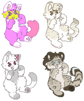 finished crayon YCHs by catdroids