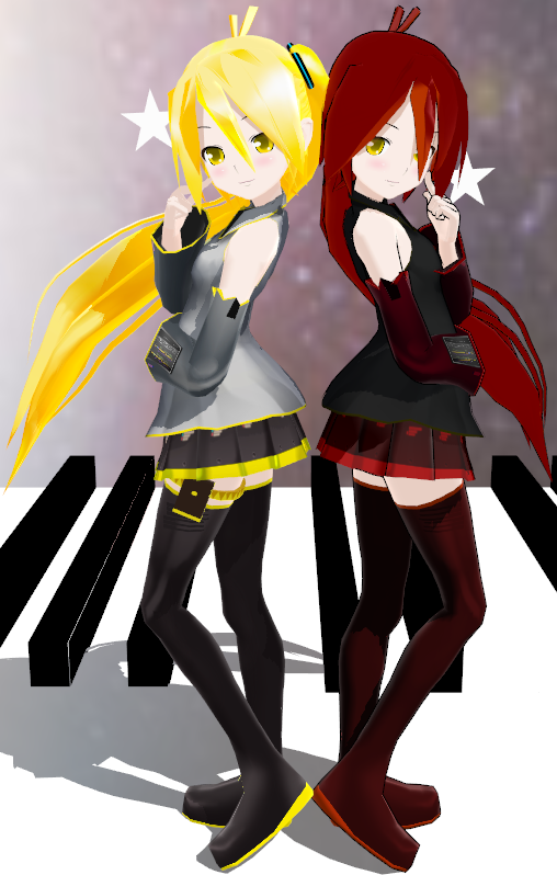 MMD Neru and Kotone by xinshin