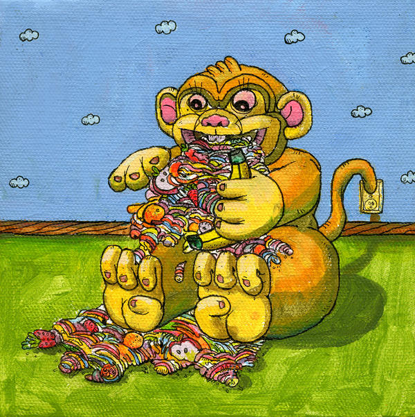 Barfing Monkey by MBLASTER