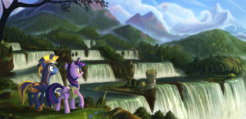 'Commission' Travelers at the Neighagra Falls by Devinian