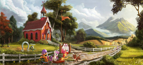 My little schoolhouse by Devinian