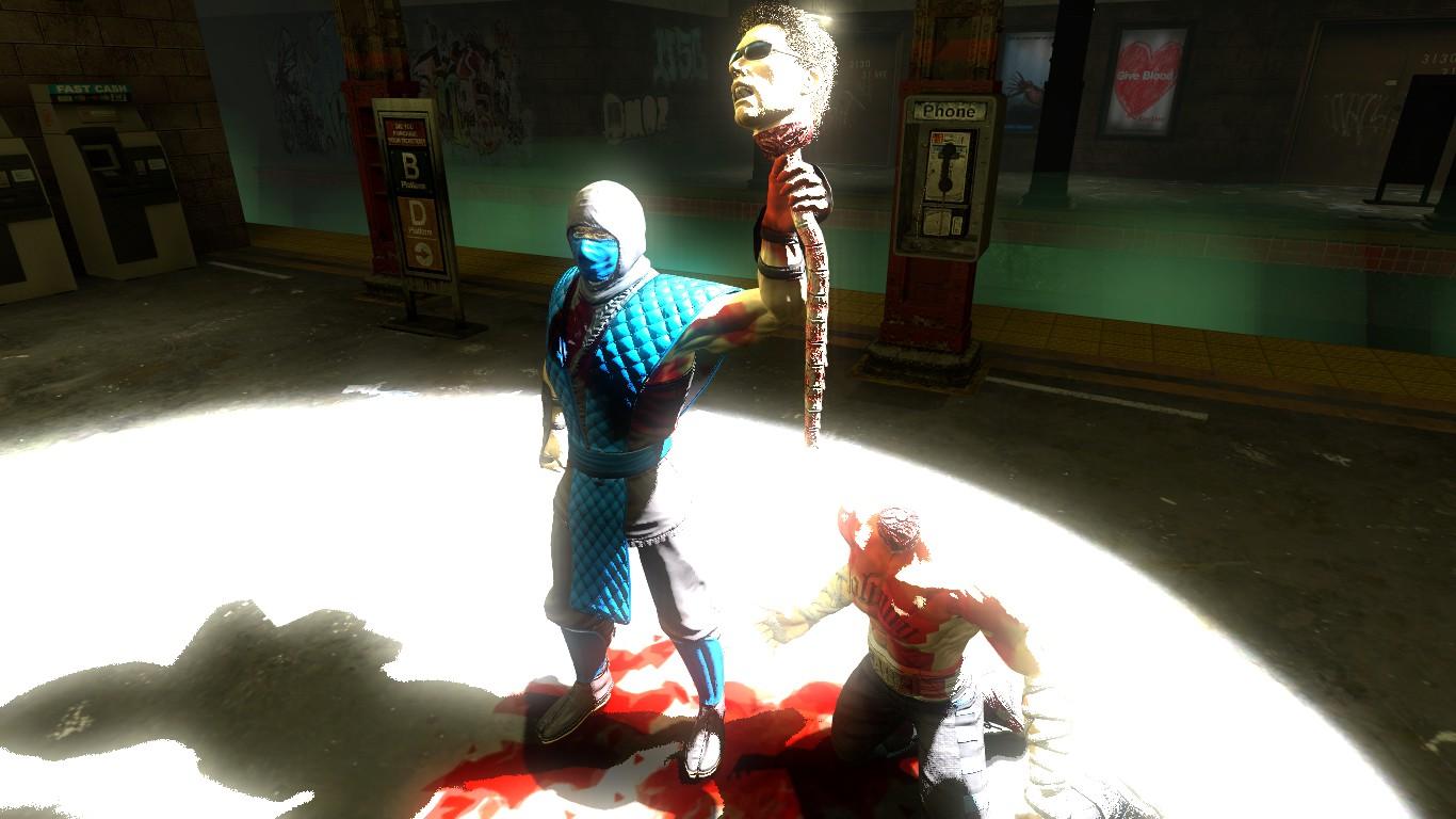 Sub zero wins fatality