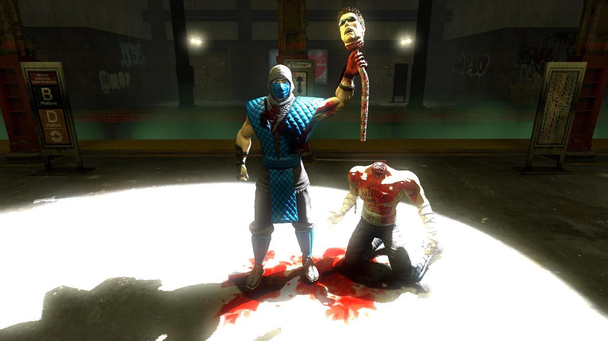 Mortal Kombat 9: Sub Zero wins! FATALITY -