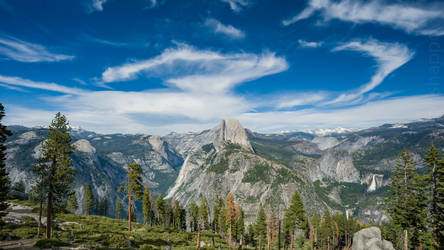 Half-Dome - View from Glacier Point by Hermes-Honshappo
