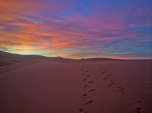 Sunrise in Erg Chebbi, Morocco