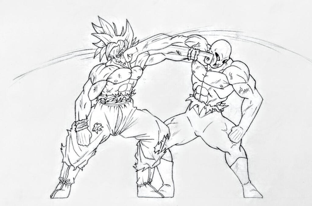 Goku UI VS Jiren by James1971 on DeviantArt