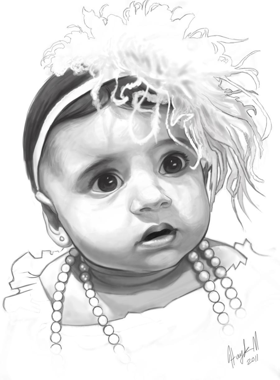 Baby Portrait by sykohyko on DeviantArt