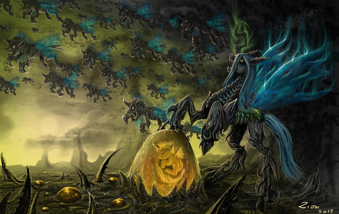 Chrysalis The Dark Queen by Ziom05