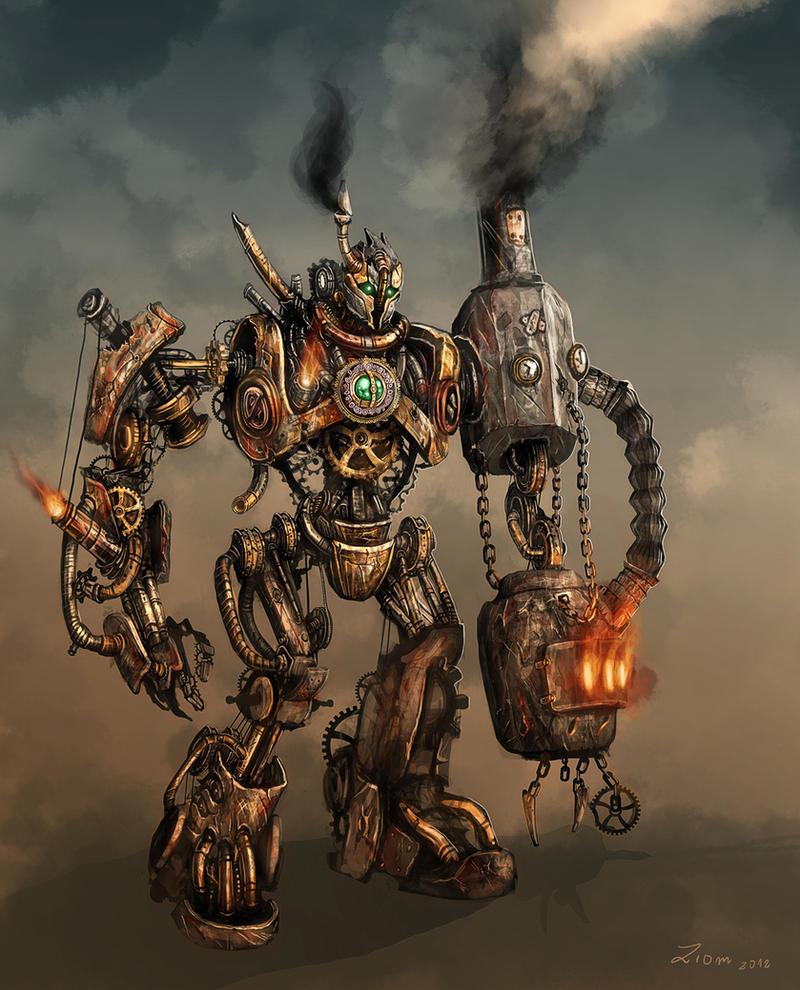 steampunk robot by ziom05 on deviantart