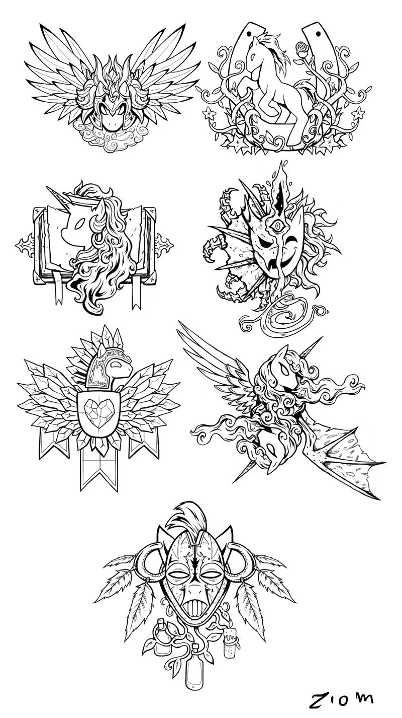 Equestria Races Crests - Sketch by Ziom05