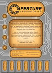Aperture Poster, orange