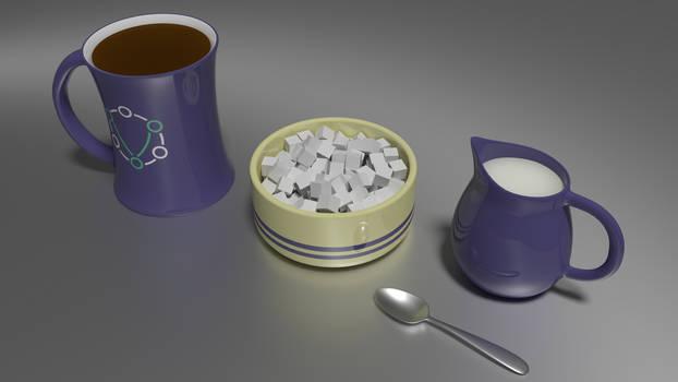 Tea, milk, n sugars