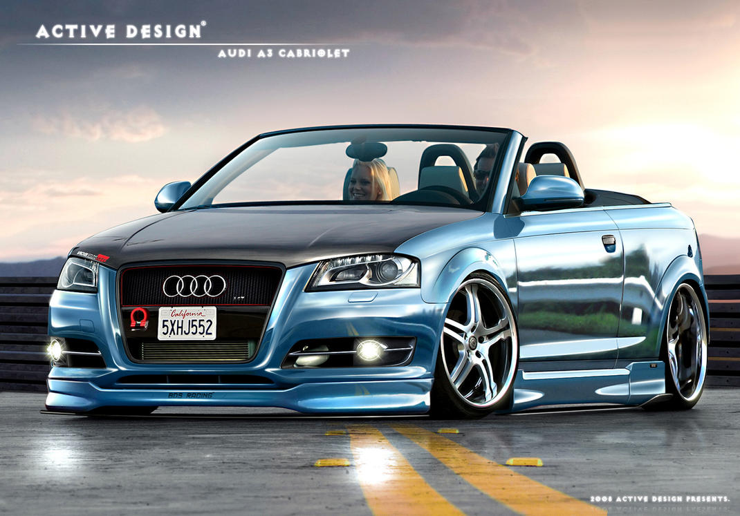 audi a3 cabriolet by active design on deviantart. Black Bedroom Furniture Sets. Home Design Ideas