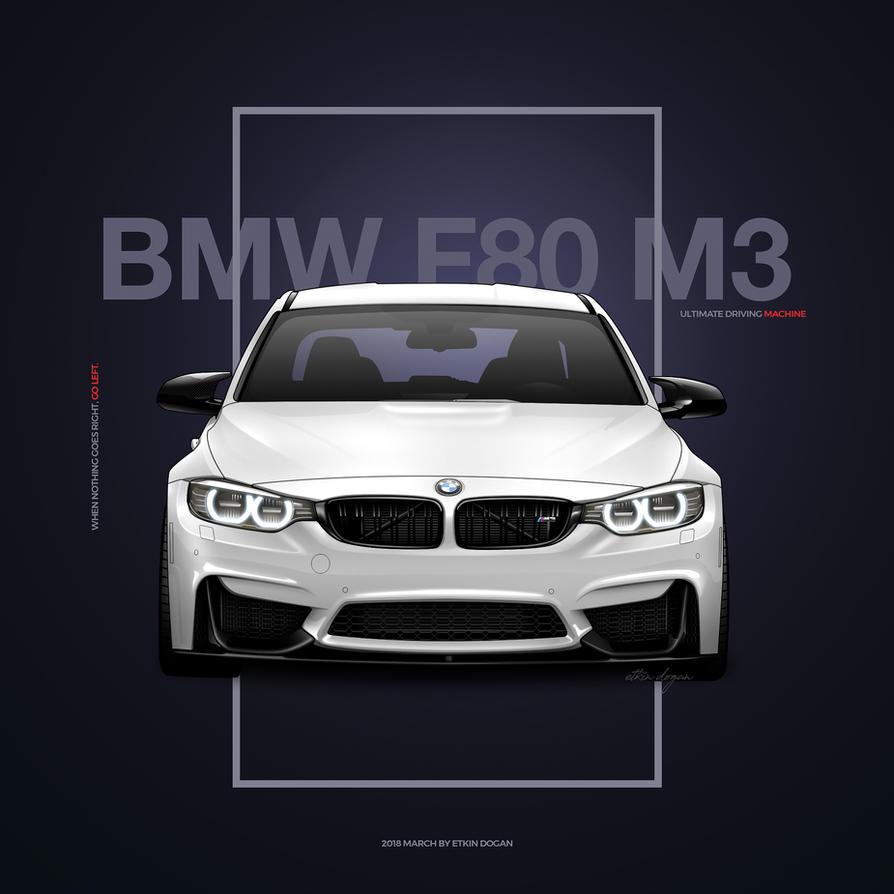BMW M3 F80 Poster Design by Active-Design