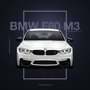 BMW M3 F80 Poster Design