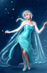 Elsa, the Snow Queen by Blind-Leviathan