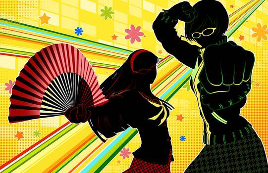 Persona 4 - Chie and Yukiko