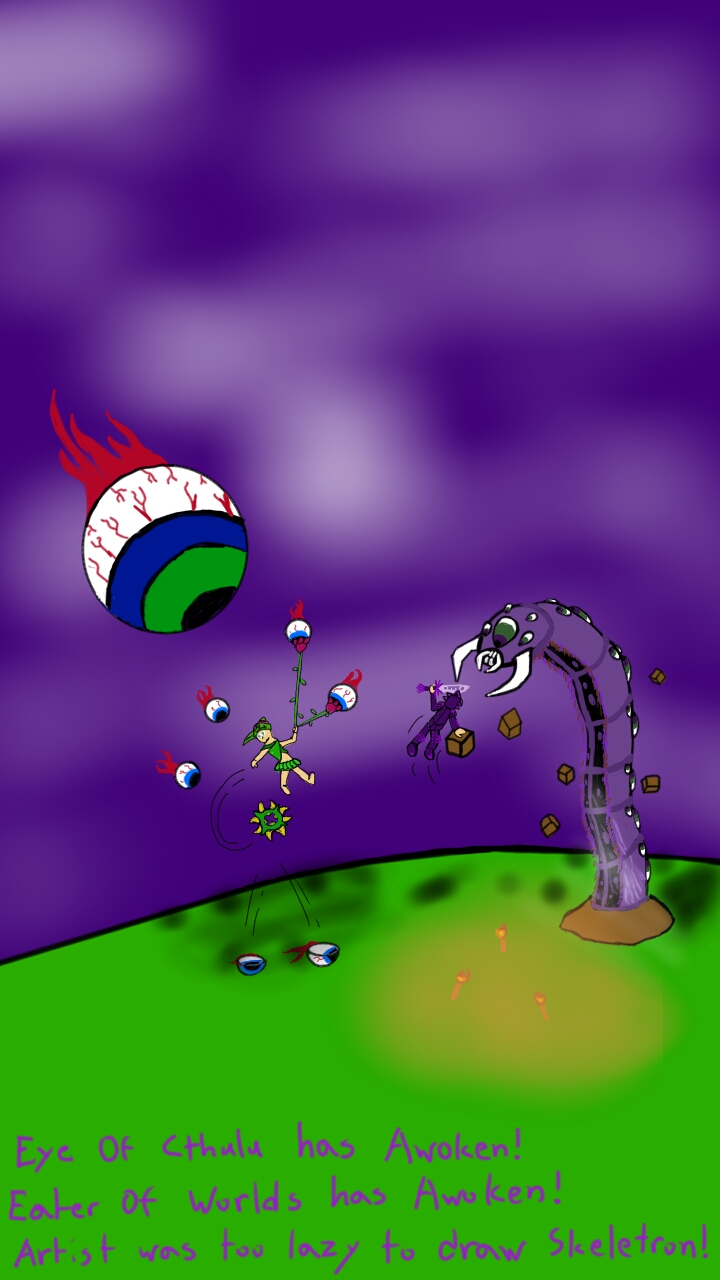 Terraria Boss Fight!!! by Charles-and-Bob on DeviantArt