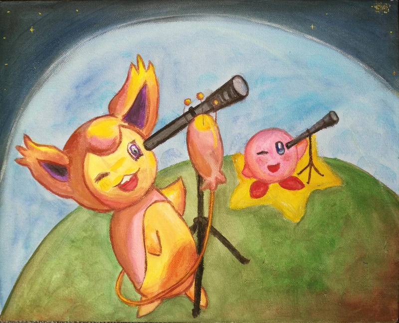 Skitty Kirby outerspace - kinda by Andorada