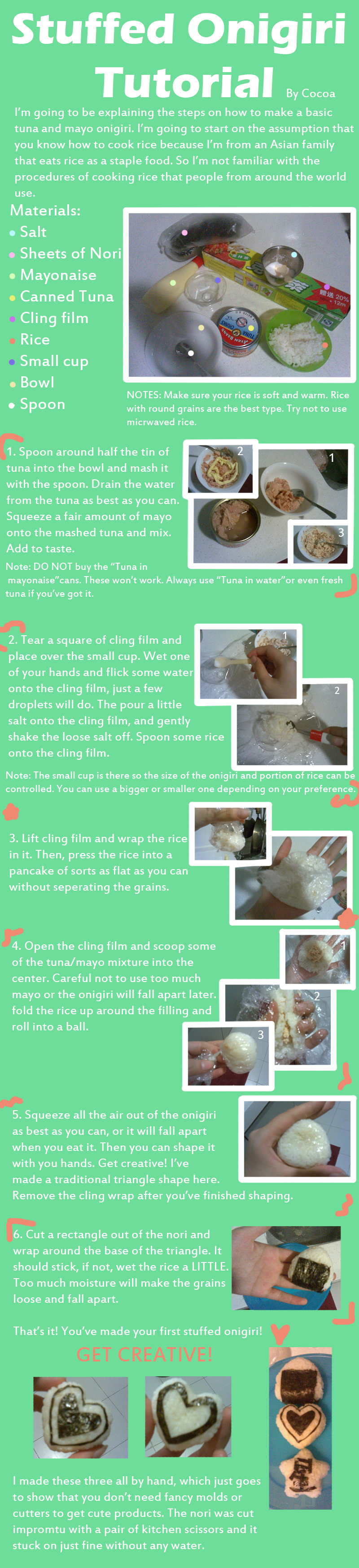 Stuffed Onigiri Tutorial by Eruda-and-Freya