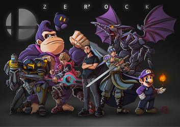Super Smash Bros. Ultimate fanart ft. Zer'ock by PierricSorel