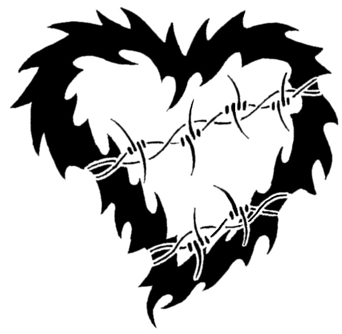 Tattoo Heart Barbed Wire by XResch on DeviantArt