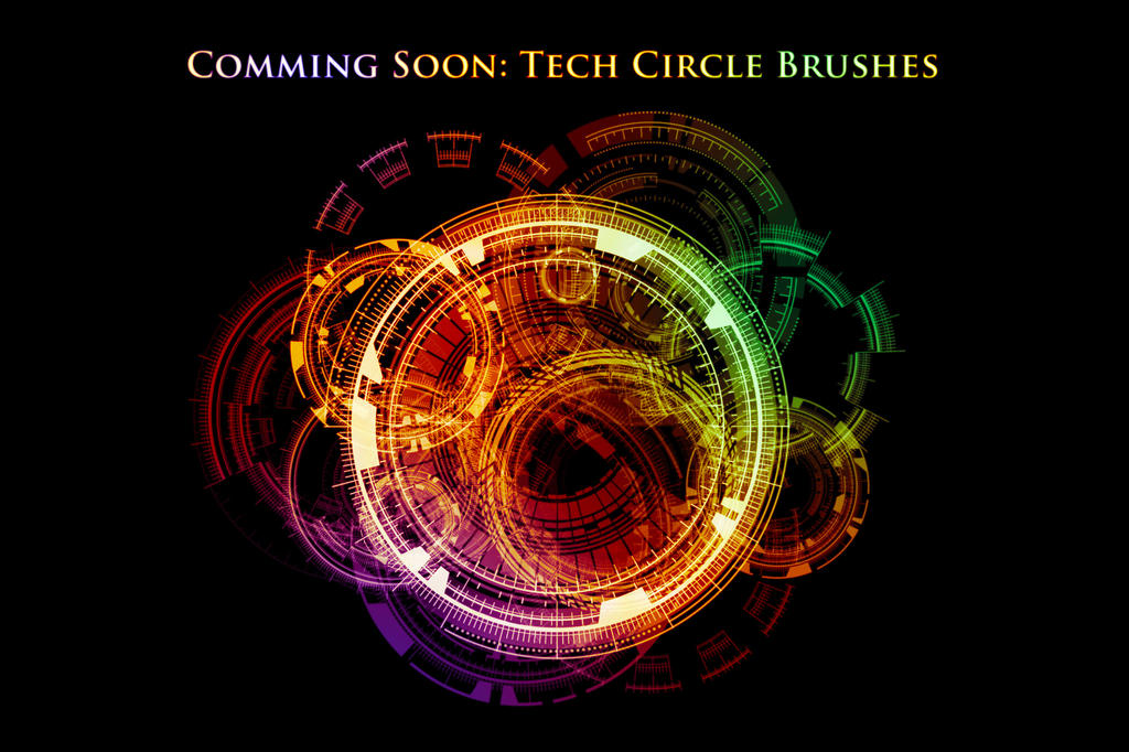 Comming Soon: Sci-Fi Tech Circle Brushes by XResch