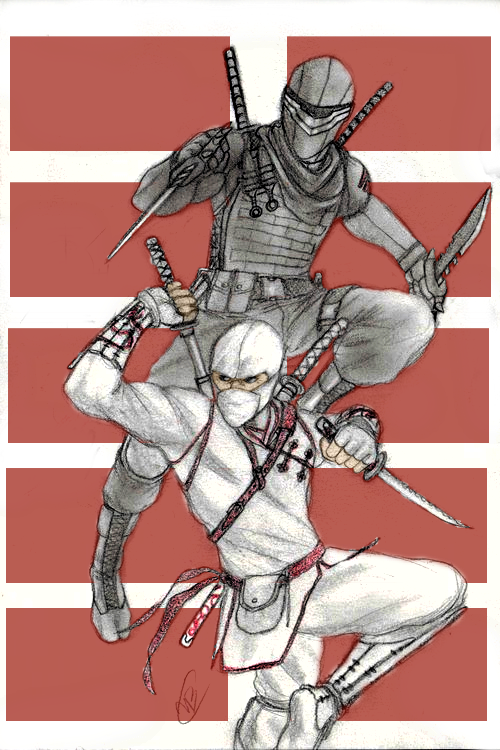 Snake Eyes and Stormshadow by DeanLeoWinchester