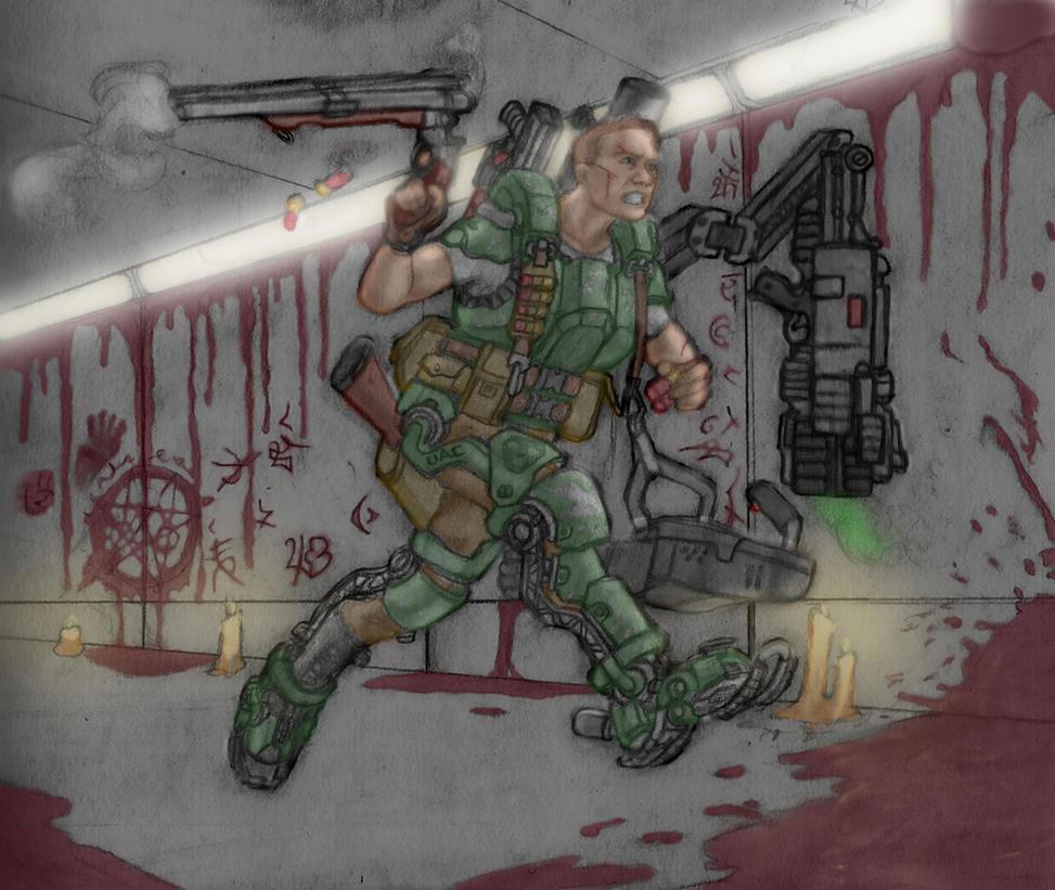 Doomguy by DeanLeoWinchester