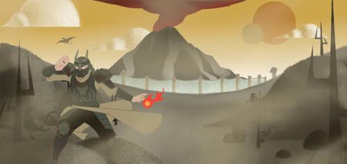 Crossing the Ashlands - Morrowind/Samurai Jack
