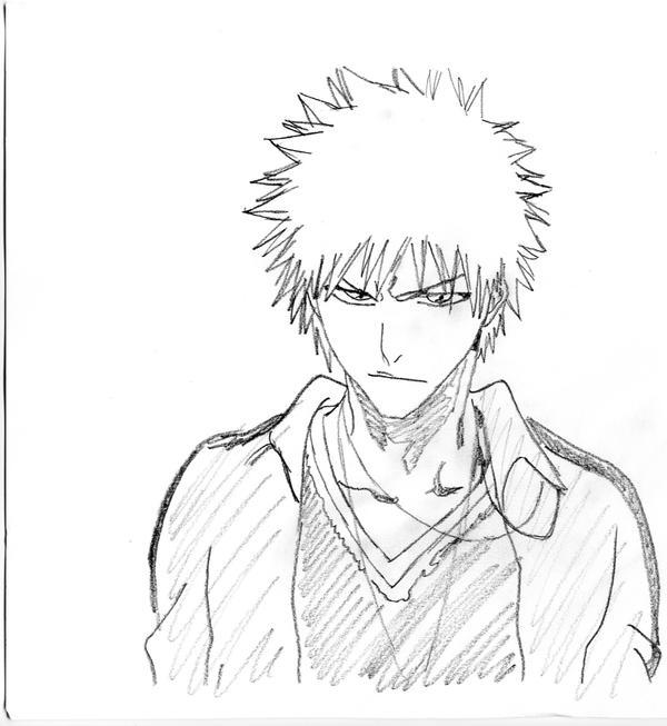 Ichigo Rough Sketch By Quinninism On DeviantArt