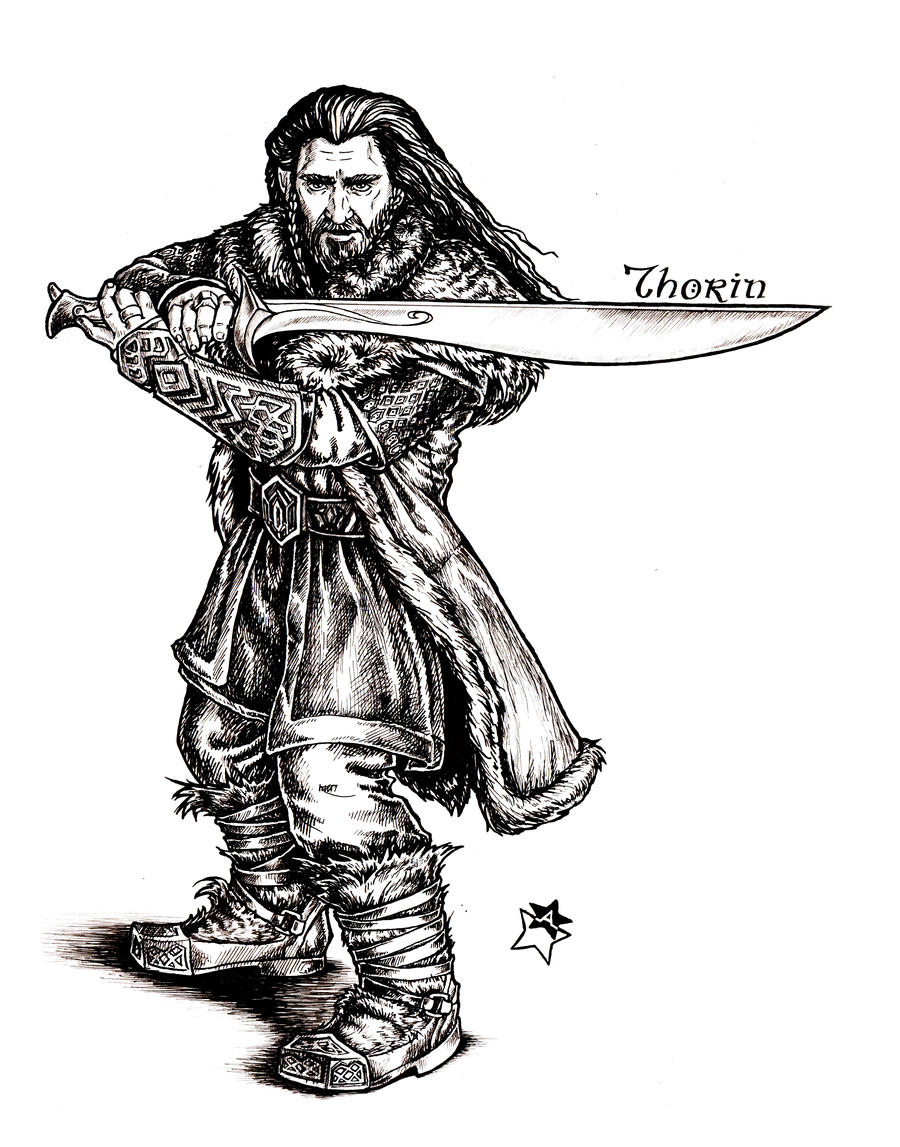 thorin oakenshield by anastina91 on deviantart
