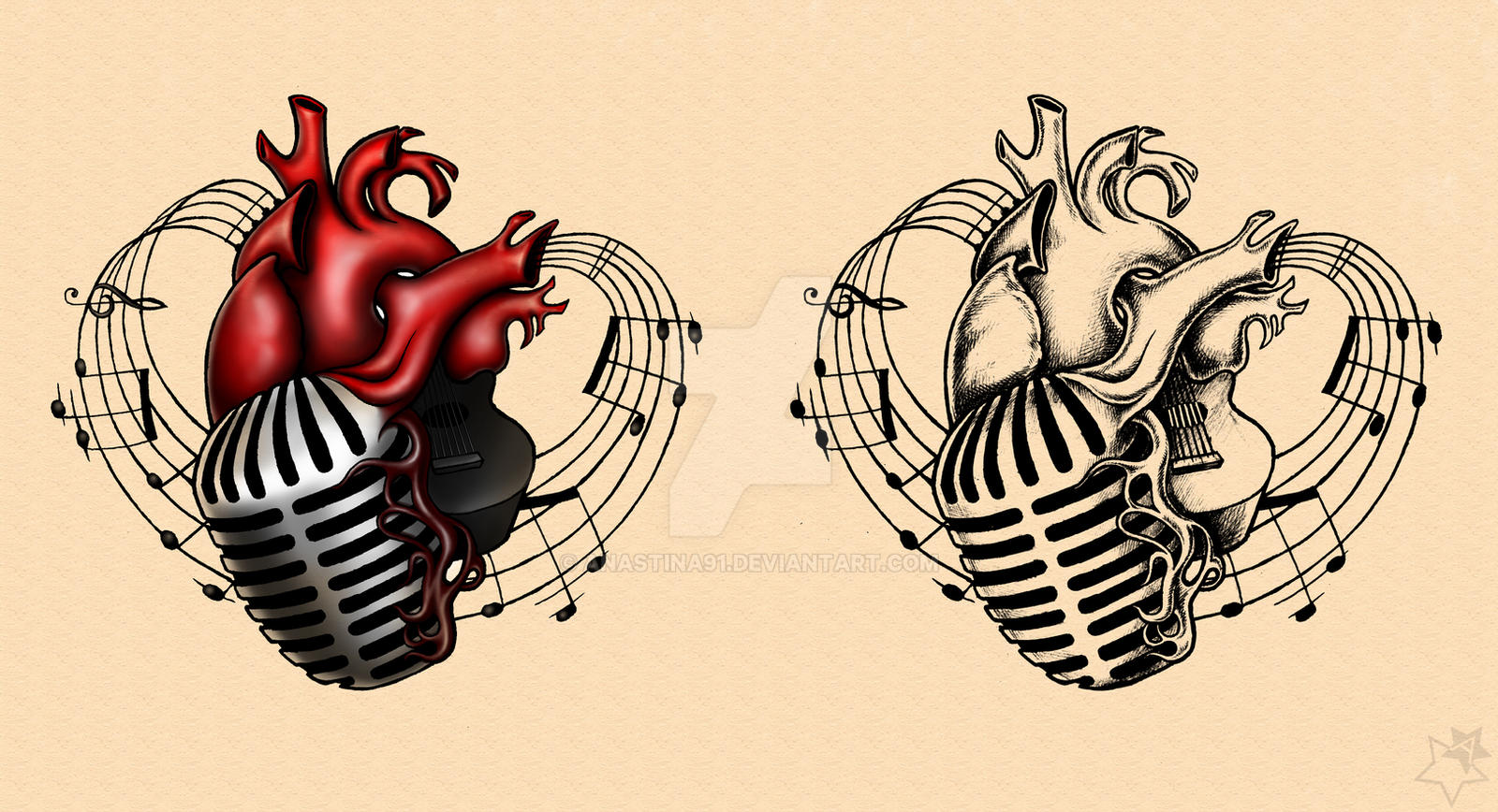 Music Heart Adam Gontier Solo Live 2013 Tattoos By Anastina91 On Deviantart