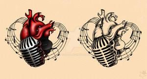 Music heart. Adam Gontier Solo Live 2013 Tattoos