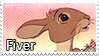 Fiver stamp by svartmoon