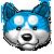 Blue dog emoticon