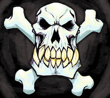 Skull and Crossbones by virgiliArt