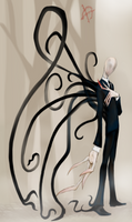 The Slender Man Cometh by virgiliArt