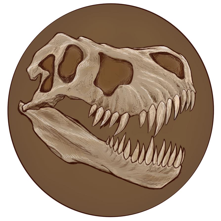 Tyrannosaur Skull by virgiliArt