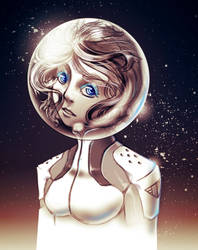 Space Girl 01 - Ice Blue Eyes