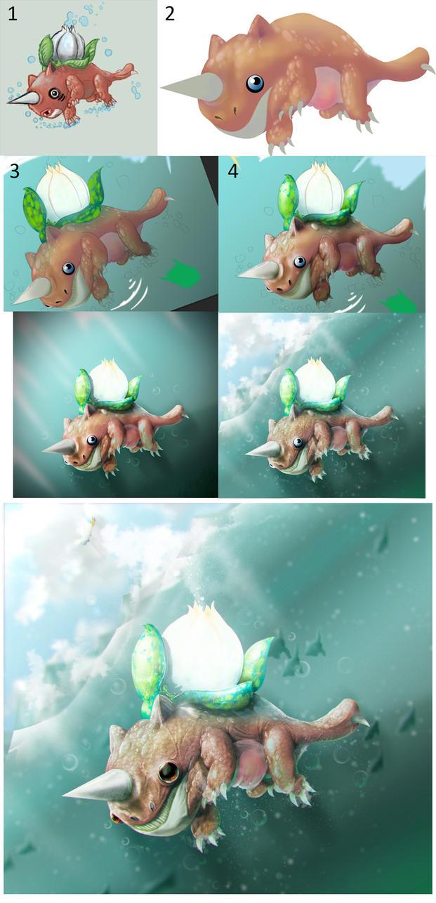Seaysaur Progress by Afrodiet