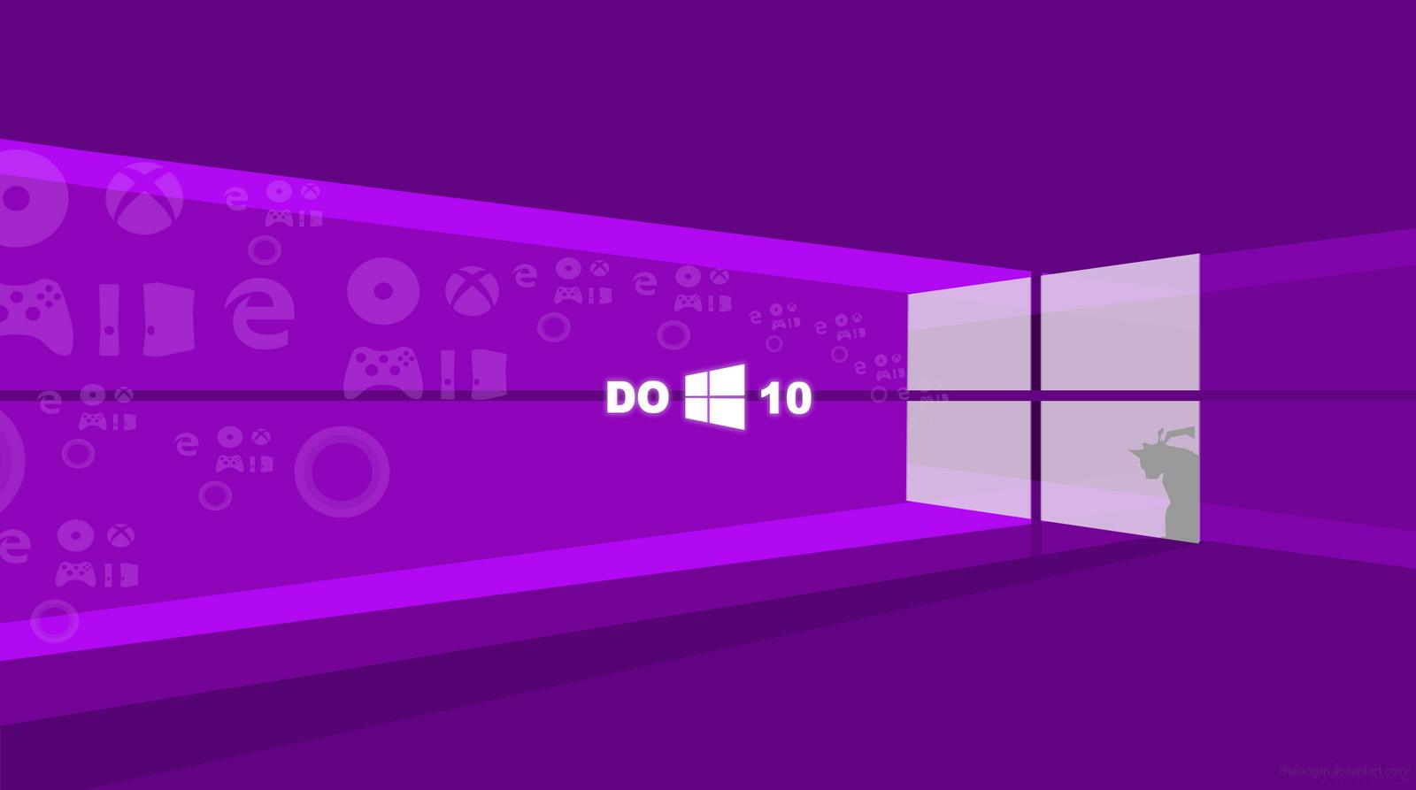 Flat Windows 10 Wallpaper Purple By Zhalovejun On DeviantArt