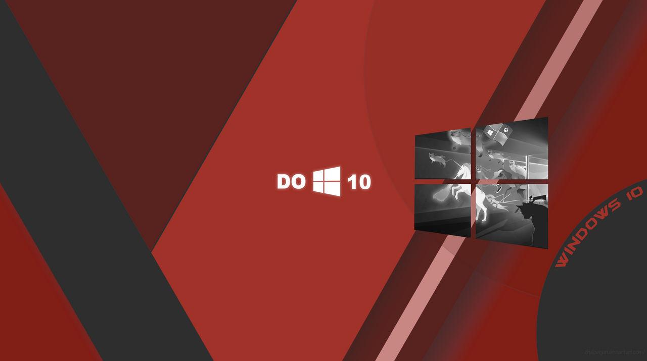 Windows 10 Wallpaper Material Red